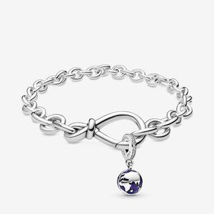 Our Blue Planet Dangle with Infinity Bracelet Set